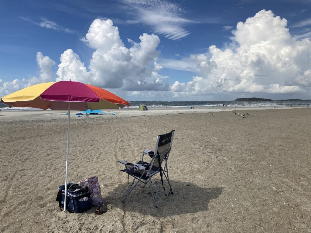 A day on Tybee Island's beaches and an office for the day for this digital nomad
