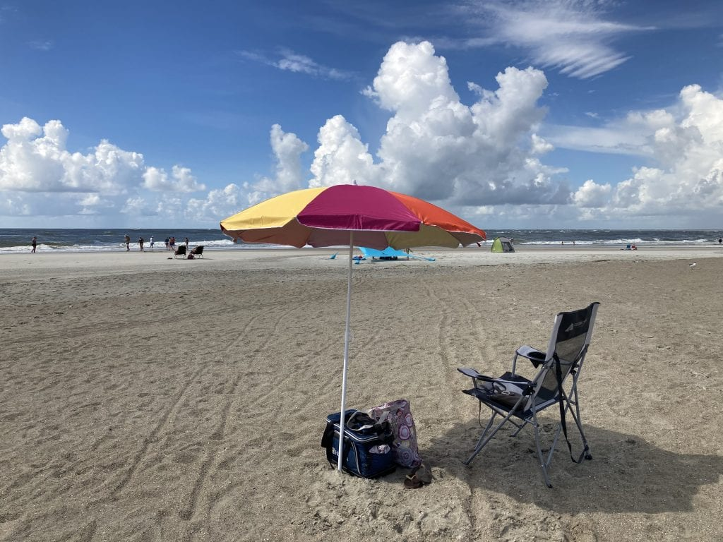 More than enough space to social distance on the beach,  Tybee Island, Georgia