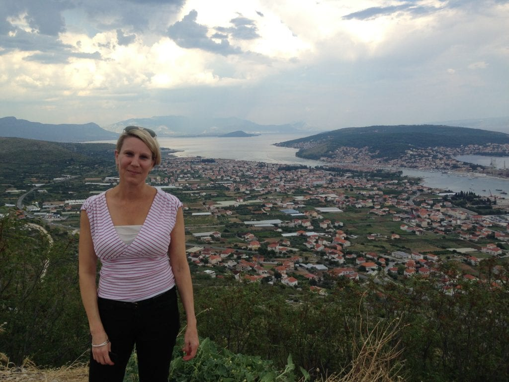Image of author with a view of Split, Croatia, in the background