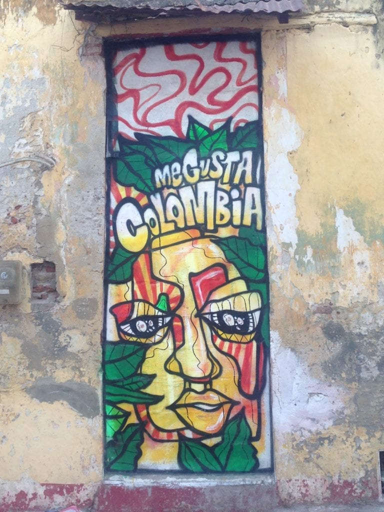 Colourful graffiti from Cartagena, Colombia