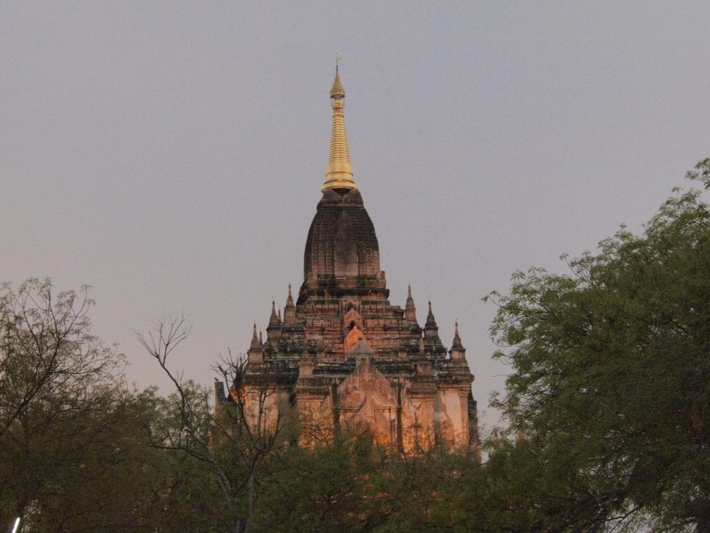 One of the thousands of ancient temples in Old Bagan, Myanmar