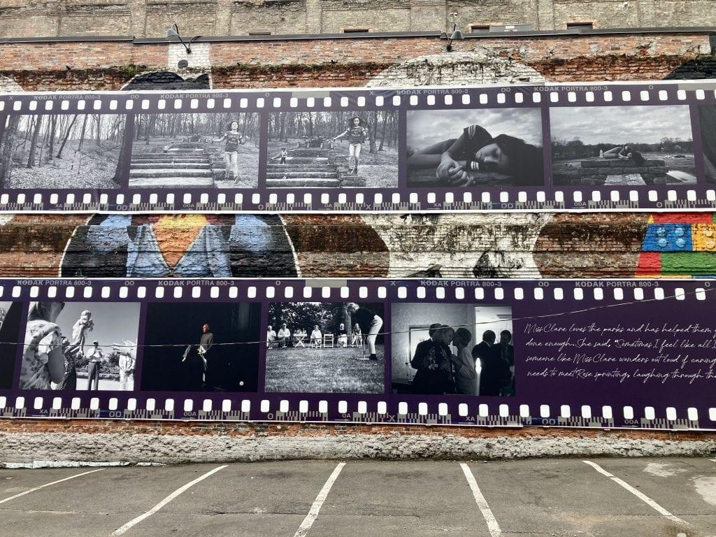 Film mural in Printer's Alley, Nashville