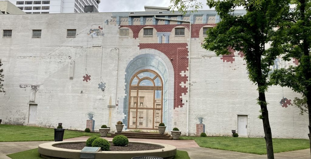 Puzzle mural on Church Street Park, Nashville
