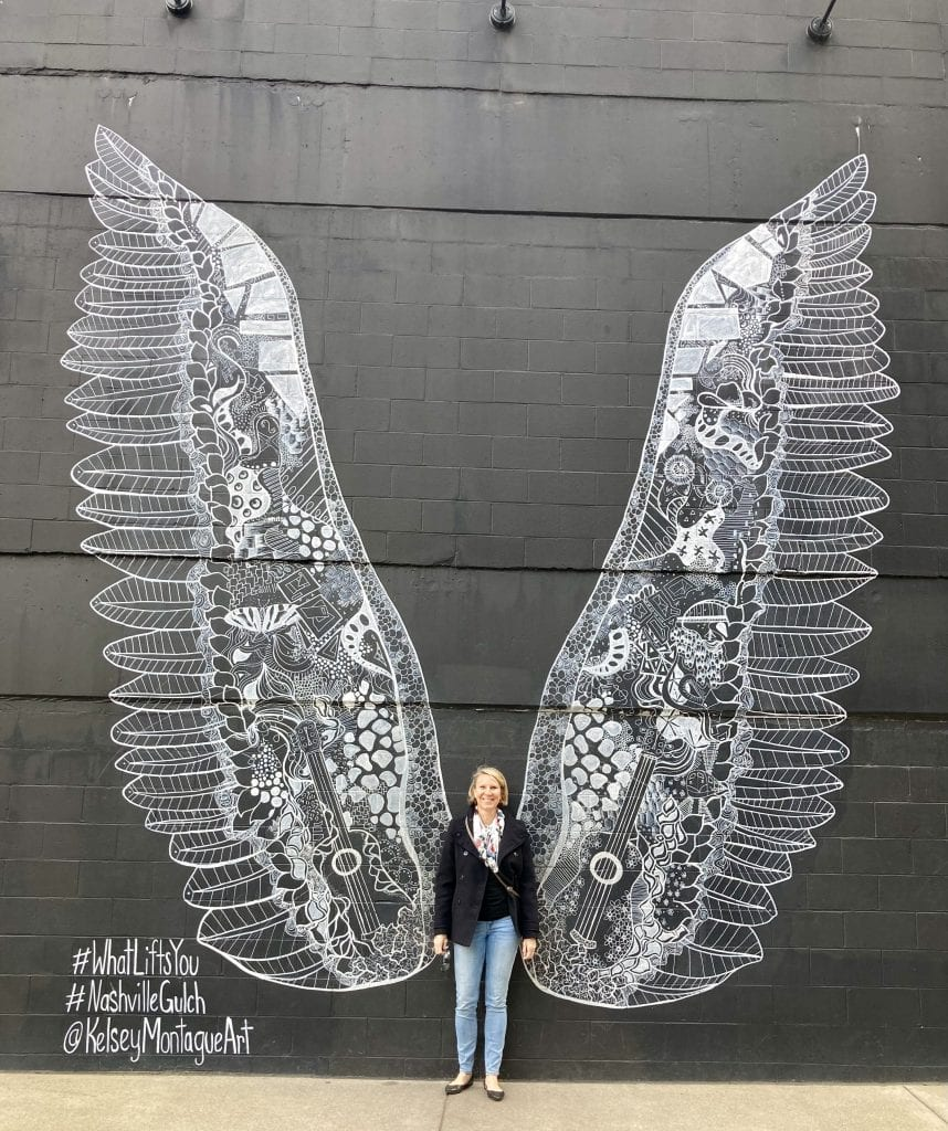 Wings mural at the Gulch, Nashville