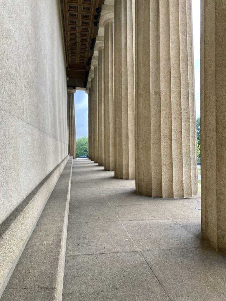 Columns at the Parthenon replica in Nashville