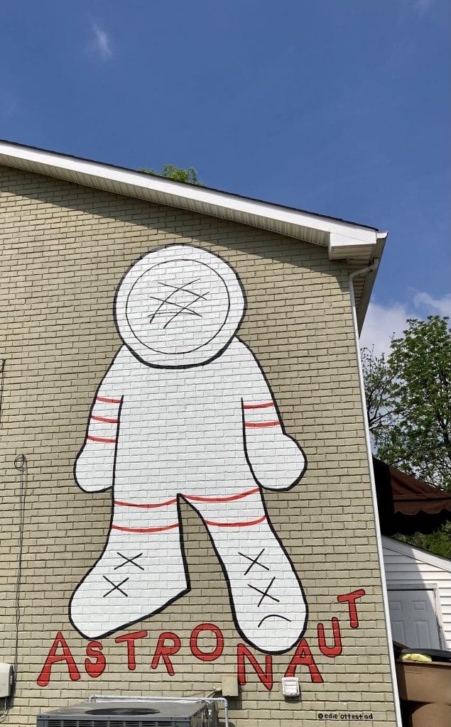 Astronaut mural in the 12 South neighbourhood, Nashville