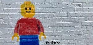Lego mural in 12 South neighbourhood, Nashville
